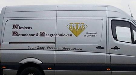Nieskens Betonboor & Zaagtechnieken Roermond.